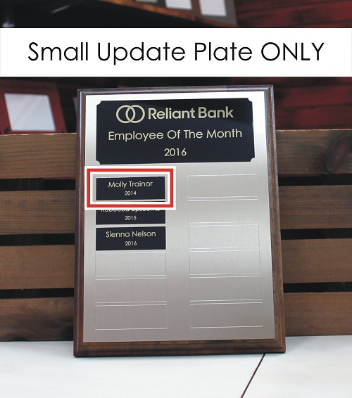 "1"" x 3"" Update Plate for 9"" x 12"" Custom Made Perpetual Plaque"