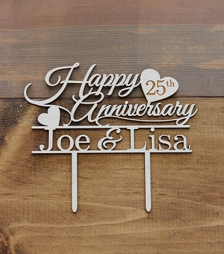 Anniversary Cake Topper With Year