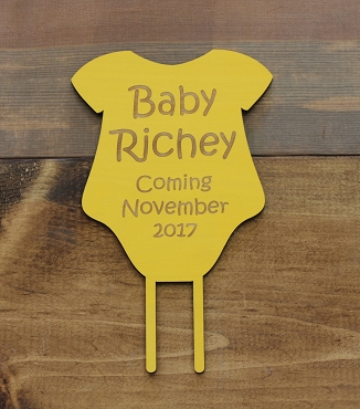 Baby Shower Onesie Cake Topper