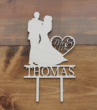 Couple Dancing Silhouette Cake Topper