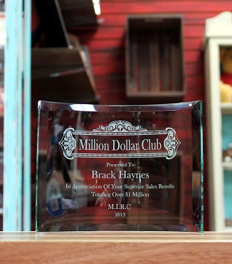 Curved Rectangle Glass Award