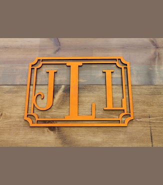 Block Monogram Cut Out With Frame