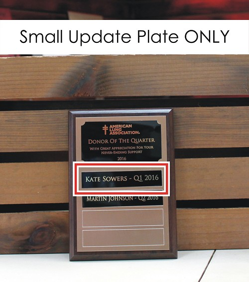 ".75"" x 3.75"" Update Plate for 5"" x 7"" Custom Made Perpetual Plaque"