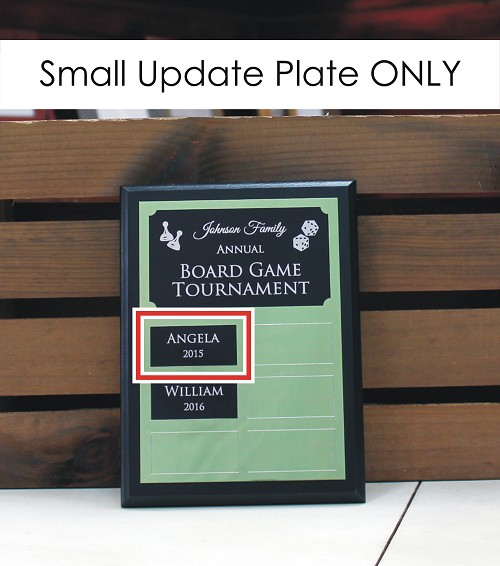 "1"" x 2.125"" Update Plate for 6"" x 8"" Custom Made Perpetual Plaque"